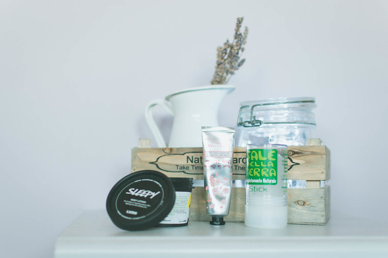 Relaxing bedtime all natural beauty products