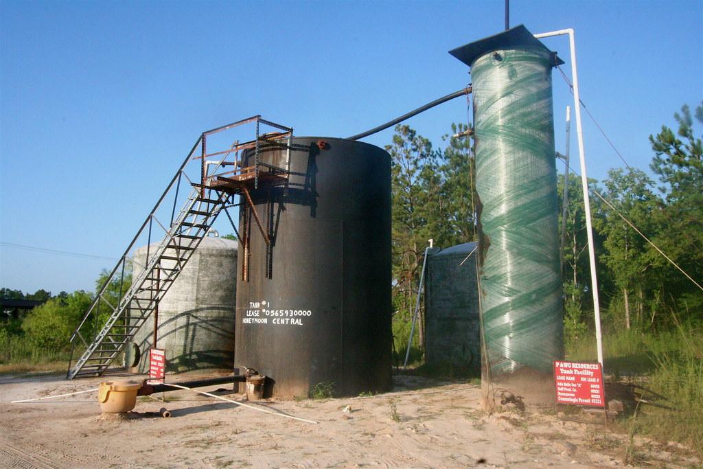 Storage tanks, Batson oil field | Just north of Batson TX ...