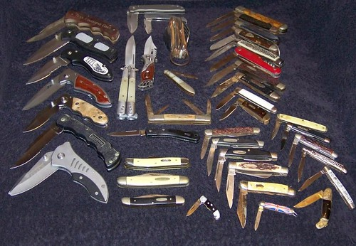 Pocket Knife Collection I Never Actively Collected These
