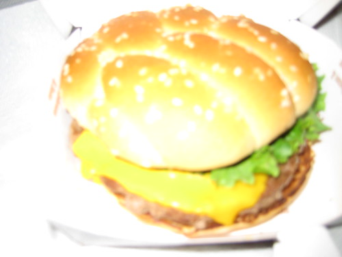 McDonald's Angus Burger Close-up | A close-up picture of ...
