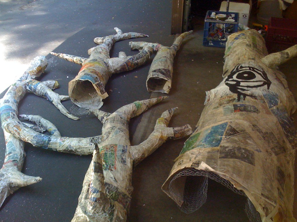 The Makings Of A Large Living Paper Mache Tree The
