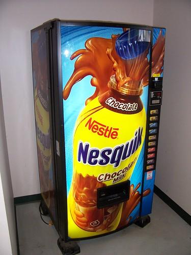nesquik vending machine