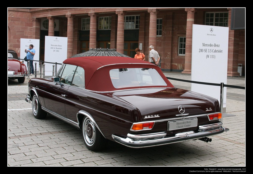 1961 Mercedes Benz W111 280 Se 3 5 Cabrio 02 The