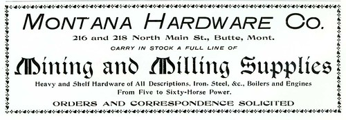 Montana Hardware Co., Butte, Montana (1901) | by Butte-Silver Bow Public Library
