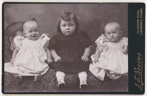 A cabinet card of three children | by National Science and Media Museum