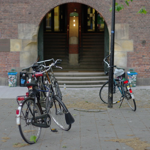 bicycles in front of WdKA entrance | by milov