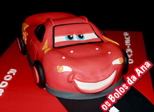 The Car Company >> Carro Faisca McQueen | Bolo carro Faisca Mcqueen ...
