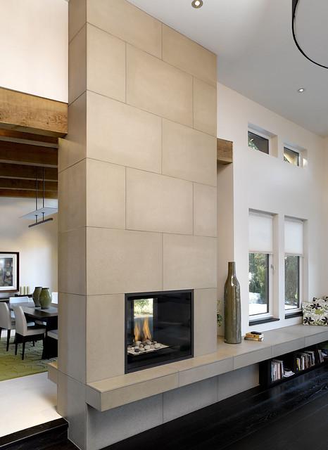 Cast Concrete Tiled Fireplace 24x36 In Portobello For More Flickr