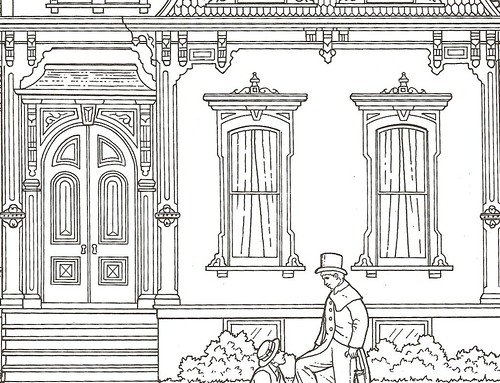dover from the victorian houses coloring book marykathryn - Victorian Coloring Pages