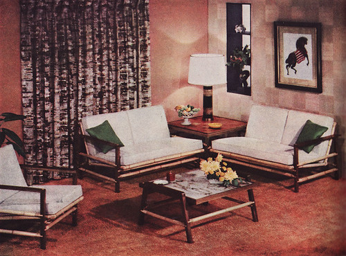 1955 Koylon Foam Ad for Living Room | The furniture was by ... American Vintage