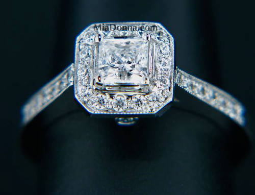 Tiffany Legacy Style Replica Antique Engagement Ring View