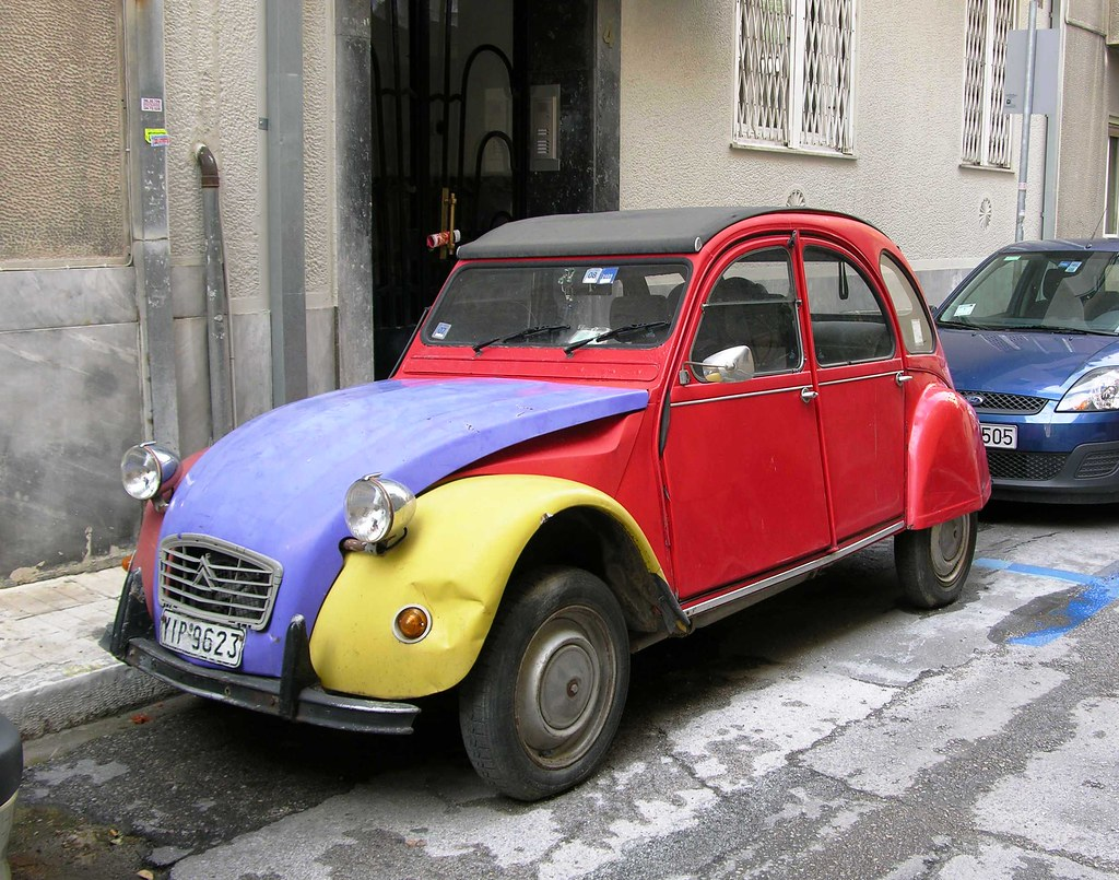 deux chevaux rainbow car athens greece the citro n 2cv flickr. Black Bedroom Furniture Sets. Home Design Ideas