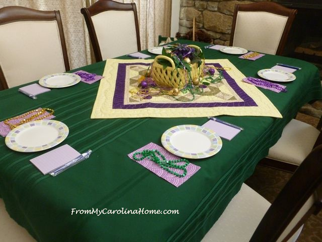 Mardi Gras Meeting table 1
