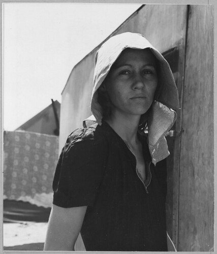Young Migratory Mother in Edison, Kern County, California, Originally from Texas | by The U.S. National Archives