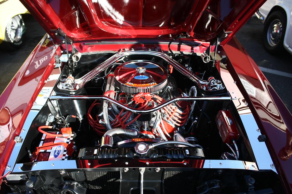 1967 Mustang Engine Bay Auburn Ca Cruise Night 7 10 09