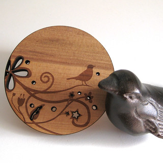 wood bird coasters | by peppersprouts & upstatefancy
