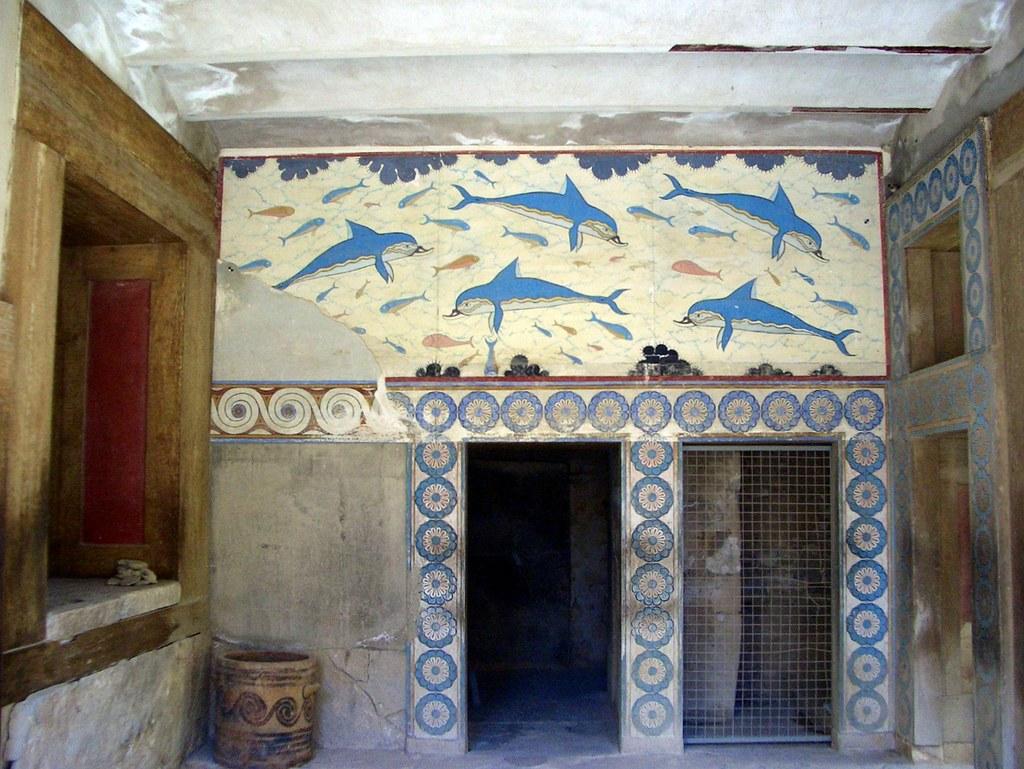 Queen S Megaron Dolphin Frescoes Knossos The Walls Of