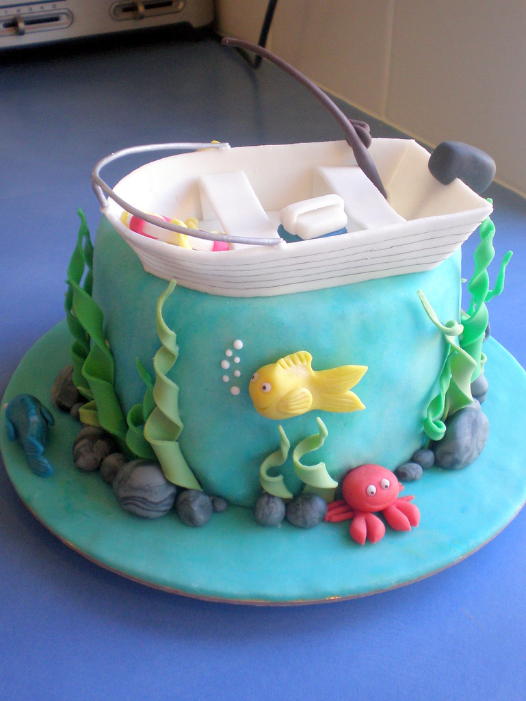 Fish Birthday Cake Template
