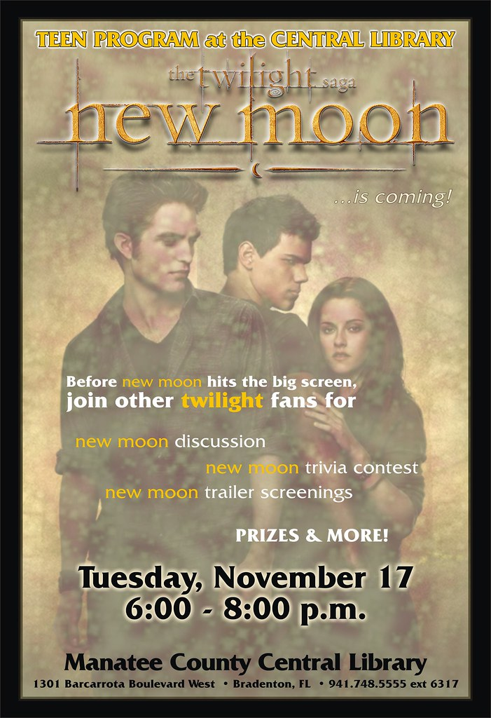 new moon the central library please note this event