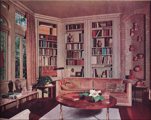 1963 traditional style library this library is a for 60s apartment design