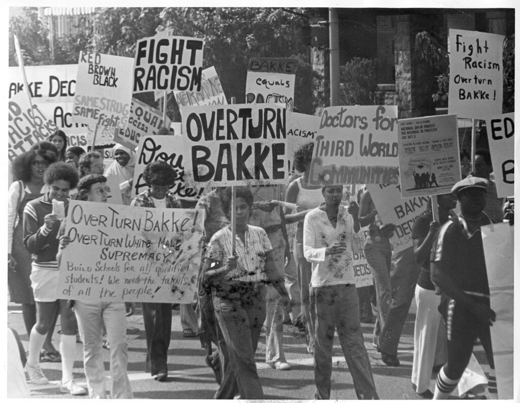Image result for bakke decision protest