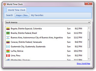 World Time Clock - Major Cities | by provenio