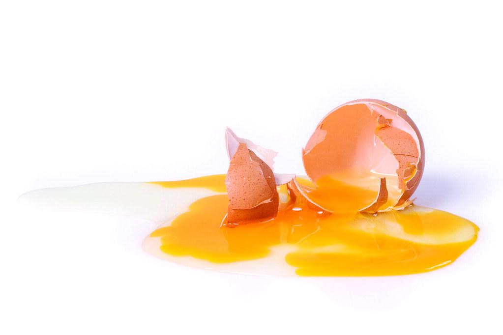 Broken Egg | Broken egg isolated over a white background wit… | Flickr