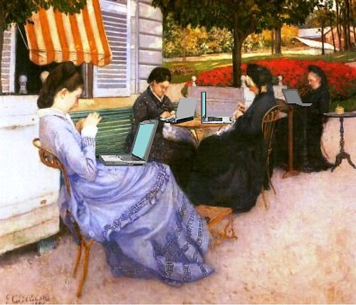 Women of WiFi, after Caillebotte | by Mike Licht, NotionsCapital.com