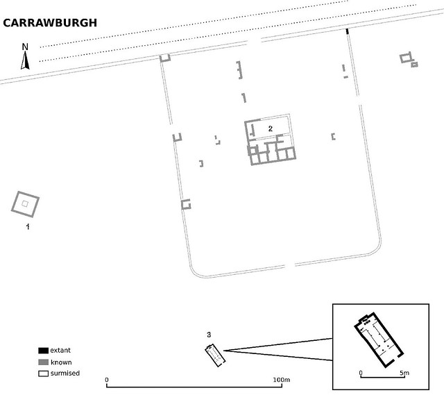plan of Carrawburgh