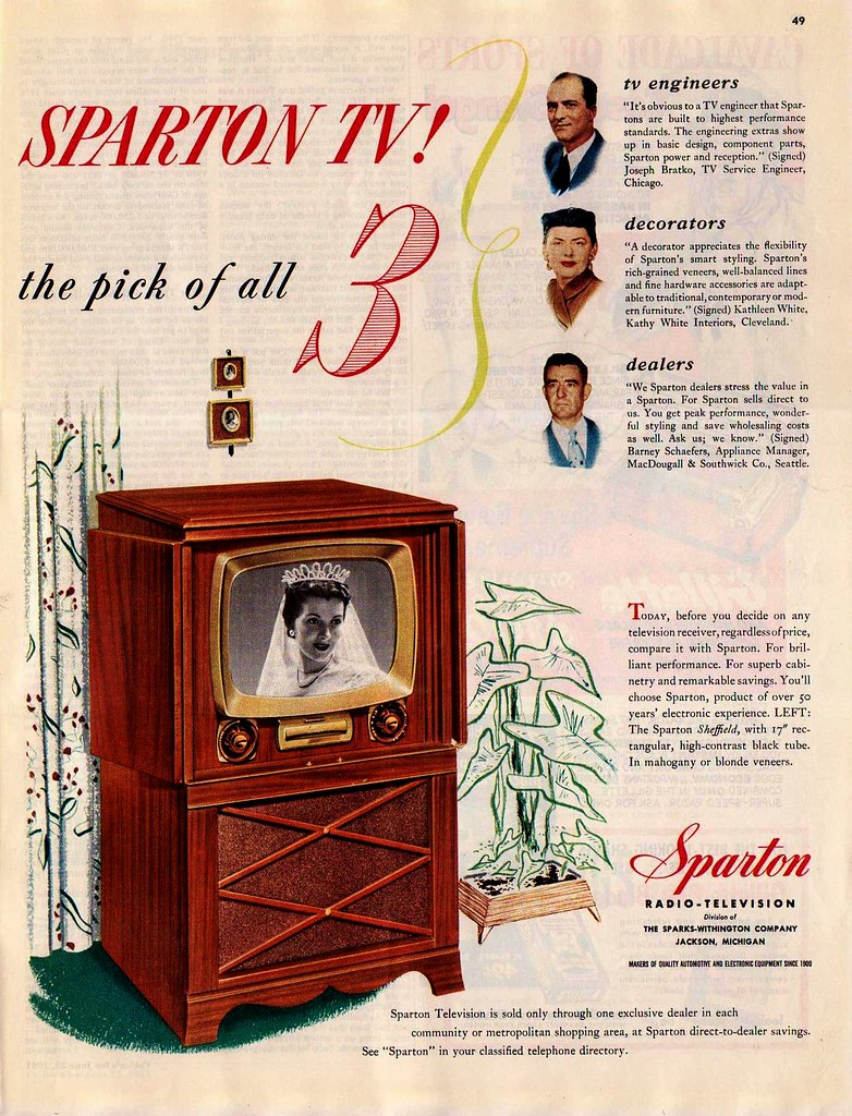 Sparton Tv Ad Quot Collier S Quot June 23 1951 Saltycotton