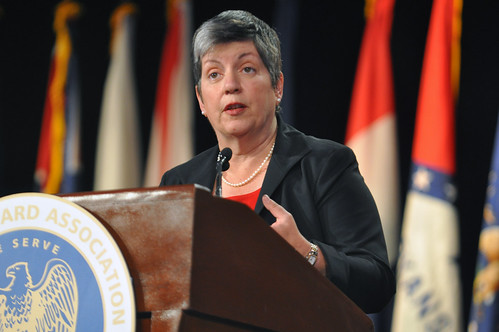 Janet Napolitano, secretary of the Department of Homeland Security, speak about the National Guard | by The National Guard