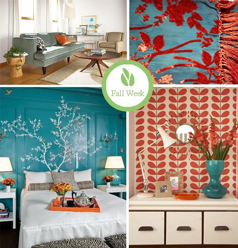 Turquoise orange loving turquoise orange right now for Bedroom designs orange and brown