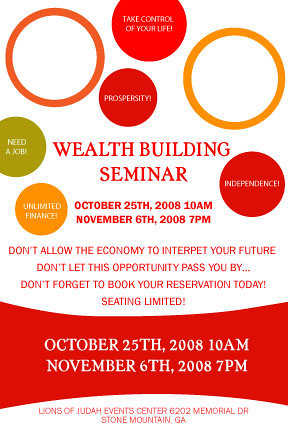 Wealth Building Seminar Flyer | Joint Project, This Is The U… | Flickr