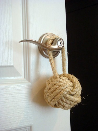 Nautical knot door stop makes a great gift for him flickr - Knot door stopper ...
