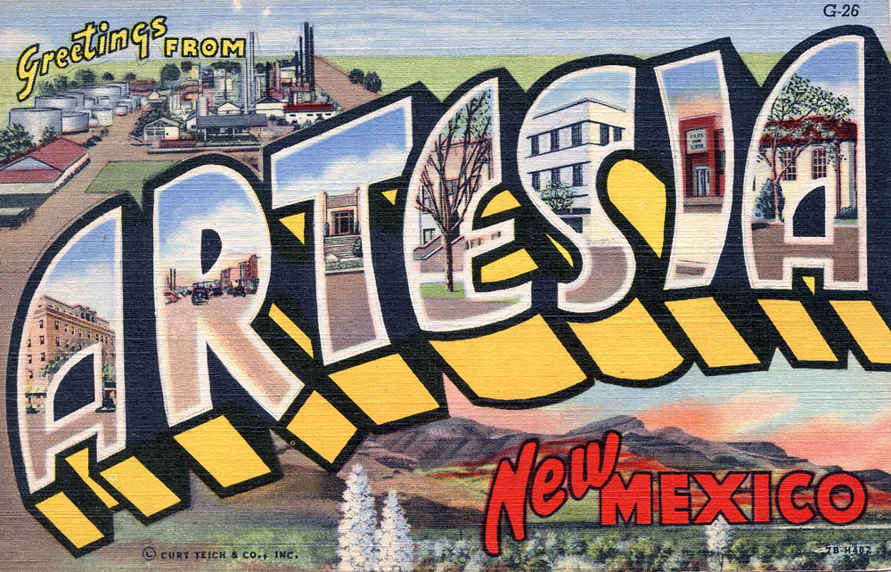 Relatively Greetings from Artesia, New Mexico - Large Letter Postcard… | Flickr IW12