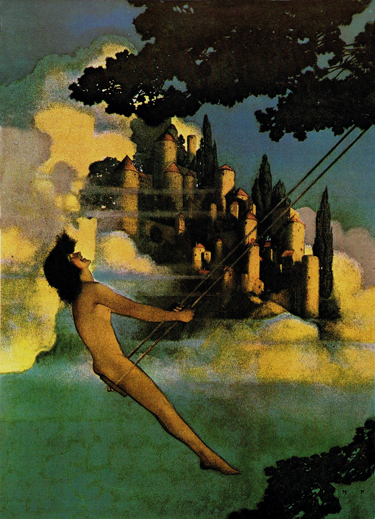 maxfield parrish  u0026 39 the dinkey bird u0026 39   1904  from  u0026 39 poems of c