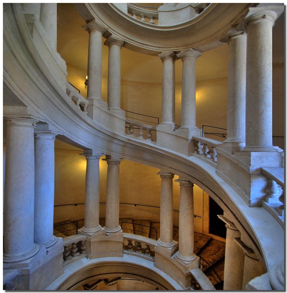 Staircase in Palazzo Barberini, Rome [1003x1024] Such elegance