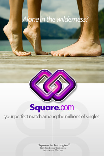 Square.com - Dating website concept ad | by Créations du Net - On duty