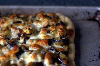 grilled eggplant and olive pizza | by smitten kitchen