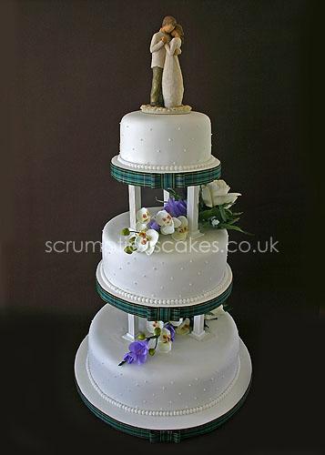 Wedding Cake 528 Silk Flowers Willow Tree Topper Flickr