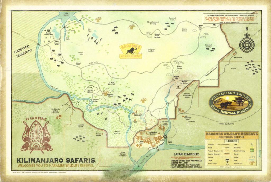 Disney Animal Kingdom Map Postcard   RAS from 9teen87 (USA) …   Flickr