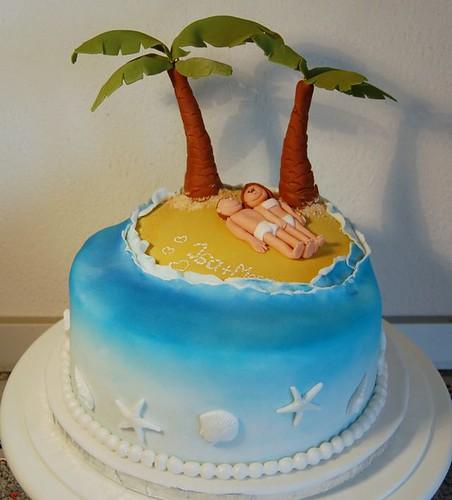 Island Themed Birthday Cake