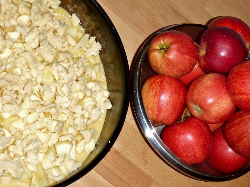 Apfelkuchen backen 021