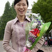 The best job in North Korea: flower seller in Mansudae.
