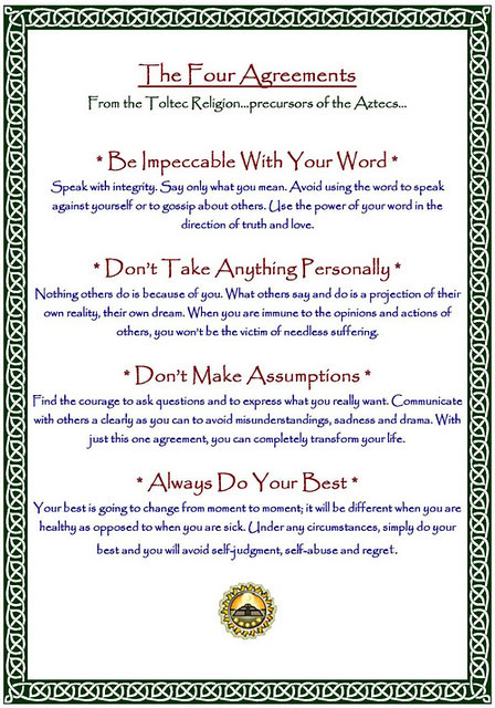 Four Agreements An Inspiring Book By Don Miguel Ruiz Flickr