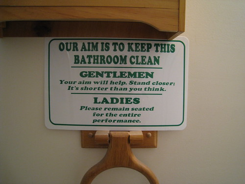 Keep this bathroom clean sign in the guest bathroom at for Keep bathroom clean signs