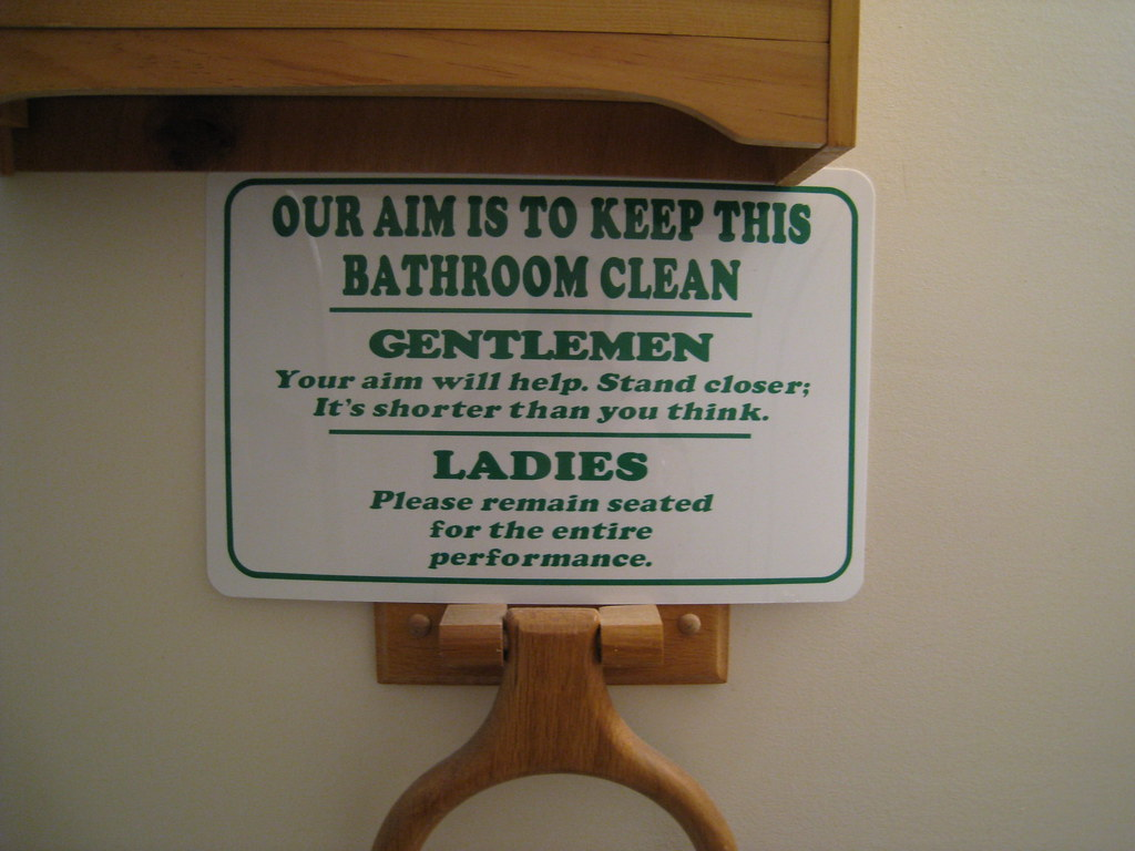 Keep This Bathroom Clean Sign In The Guest Bathroom At My Flickr