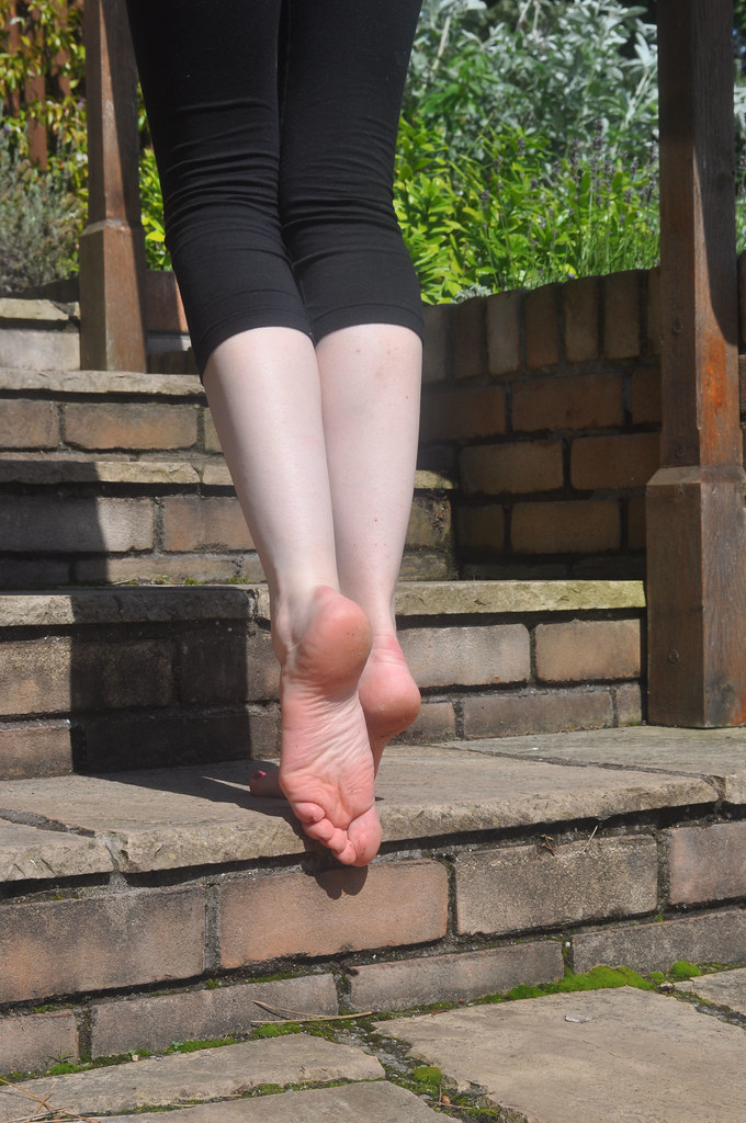 Candid college feet shoeplay in brown flats - 3 part 7