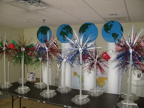 Around the world centerpiece the prop factory flickr for Around the world party decoration ideas