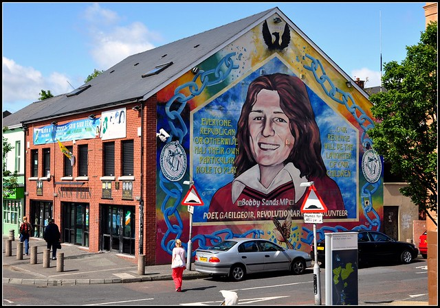 Belfast mural of bobby sands flickr photo sharing for Bobby sands mural falls road